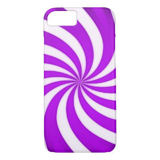 Spiral Purple Candy Cane iPhone 7 Case