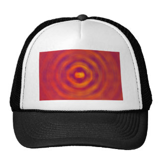 Spiral Red abstract bright colours Hat