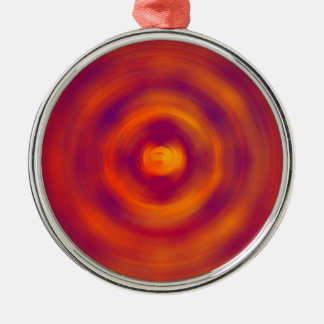 Spiral Red abstract bright colours Christmas Ornament