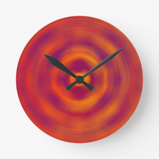 Spiral Red abstract bright colours Wall Clock