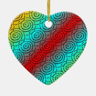 Spiral Ripple Christmas Ornament