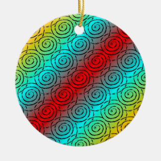Spiral Ripple Christmas Ornament