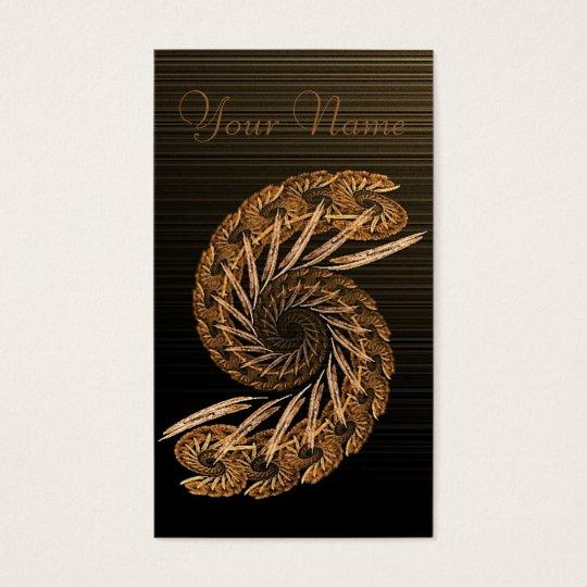 Spiral Rust Fractal Business Card