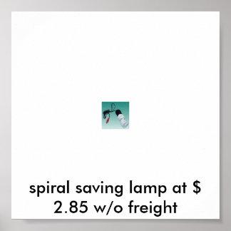 spiral saving lamp poster