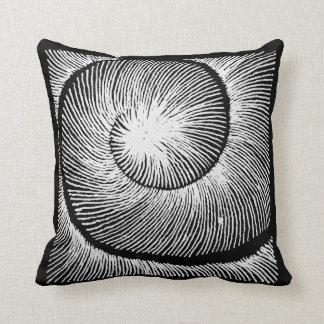 Spiral Schneckenhaus LINEs blackandwhite Cushion