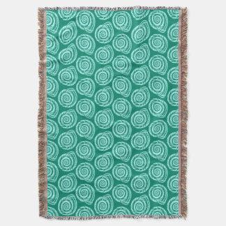Spiral Seashell Block Print, Turquoise and Aqua