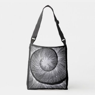 spiral shell crossbody bag
