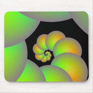 Spiral Spheres in Green and Yellow  Mousepad