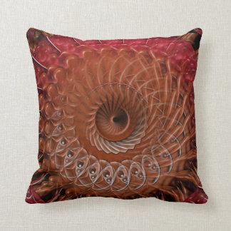 Spiral Splatter (brown) Cushion