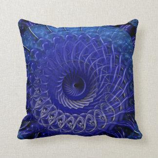 Spiral Splatter (purple blue) Cushion