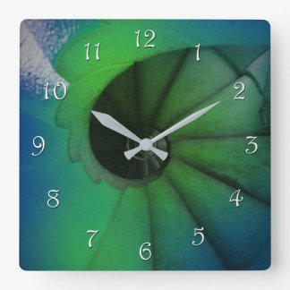 spiral square wall clock