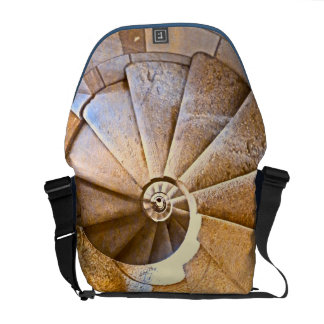 Spiral Staircase in the Sagrada Familia Courier Bag
