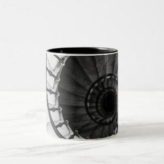spiral staircase Two-Tone coffee mug
