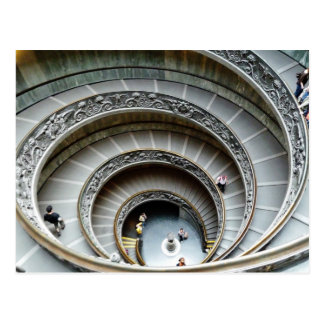 Spiral Staircase, Vatican Museum, Postcard
