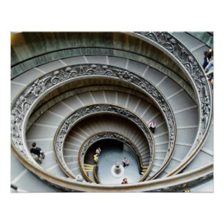 Spiral Staircase, Vatican Museum, Poster