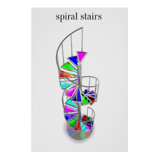 Spiral stairs posters