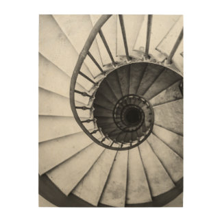 Spiral stairs wood wall art