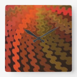 Spiral Summer Colours Wall Clock