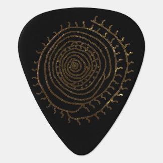 Spiral Sun Guitar Pick