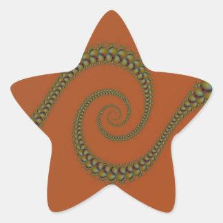 Spiral to Spiral Star Sticker