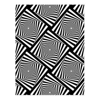 SPIRAL TUNNEL ( a Black & White Design) ~ Postcard