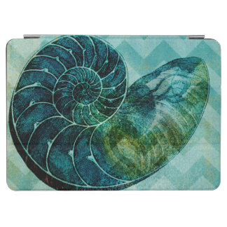 Spiral Turquoise Conch Shell iPad Air Cover
