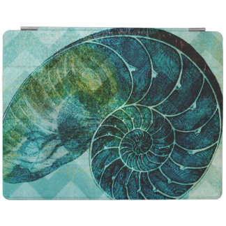 Spiral Turquoise Conch Shell iPad Cover