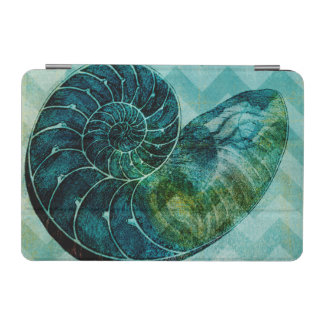 Spiral Turquoise Conch Shell iPad Mini Cover