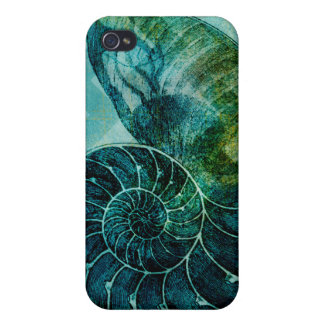 Spiral Turquoise Conch Shell iPhone 4/4S Case