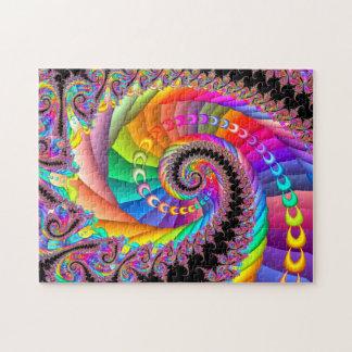 Spiral Twist Fractal Art Puzzle