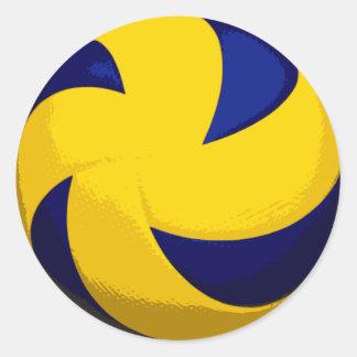Spiral Volleyball Stickers