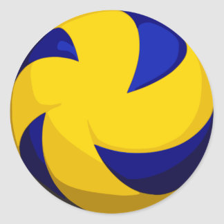 Spiral Volleyball Stickers (Smooth)