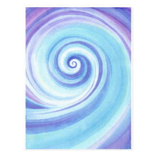 Spiral, Wave Shell Water Colour Postcard