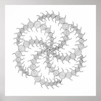 Spiral Wheel III Poster