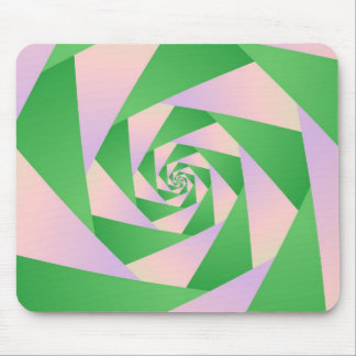 Spiral with Four Arms Mousepad