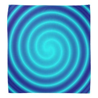 Spiraling Blue Vertigo Bandana