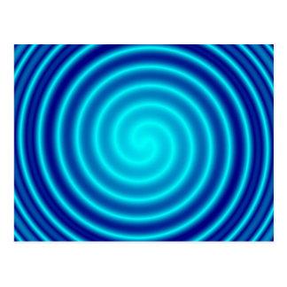 Spiraling Blue Vertigo Postcard