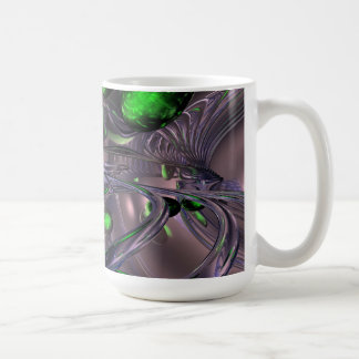Spiraling out of Control Abstract Basic White Mug