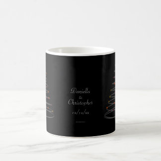 """Spiralled Christmas Tree"" - Personalised Basic White Mug"