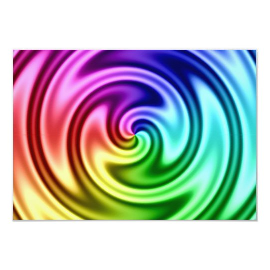 Spiralling Abstract Colourful Vortex Card