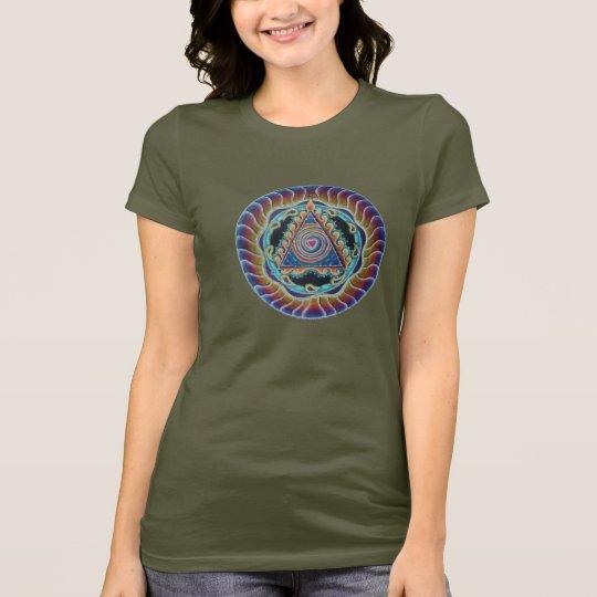 Spiralling Heart Mandala T Shirt