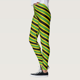 Spiralling Jamaican Colours Leggings