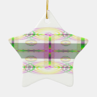 Spirals Abound Double-Sided Star Ceramic Christmas Ornament