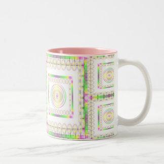 Spirals Abound Two-Tone Mug