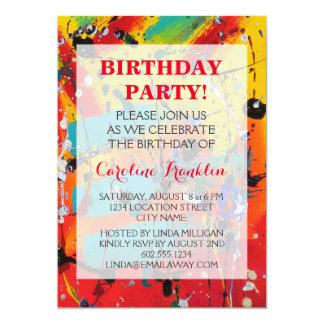 Spirals Abstract-Art Birthday Invitations
