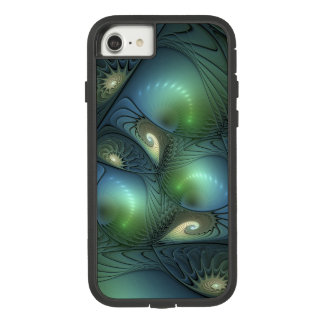 Spirals Beige Green Turquoise Fantasy Fractal Case-Mate Tough Extreme iPhone 8/7 Case