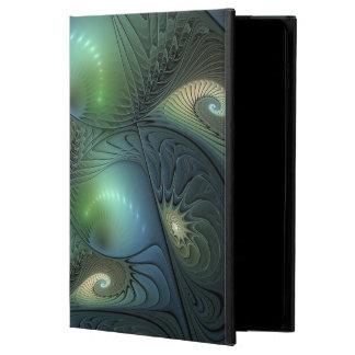 Spirals Beige Green Turquoise Fantasy Fractal Powis iPad Air 2 Case