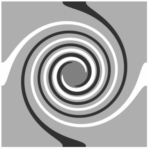 Spirals in Gray and White. Stylish swirls. Cut Out