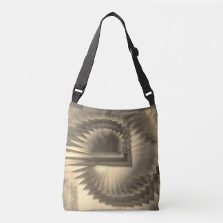 Spirals in sepia crossbody bag