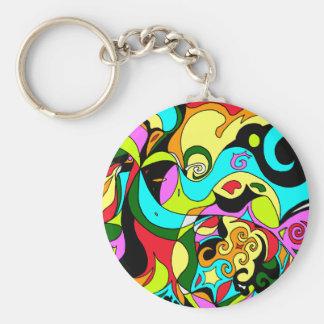 Spirals Key Ring